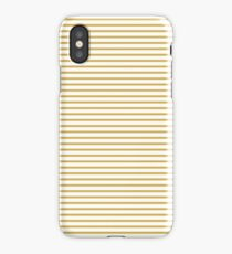 Spicy Mustard Stripes iPhone Case/Skin