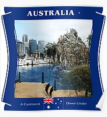 Australia - A Continent Down Under Poster