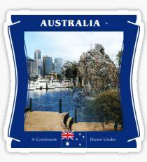 Australia - A Continent Down Under Sticker