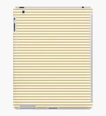 Spicy Mustard Stripes iPad Case/Skin