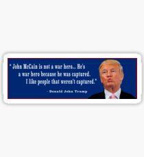 Donald Trump and John McCain Sticker