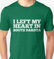 I Left My Heart In South Dakota Love Native T-Shirt Unisex T-Shirt