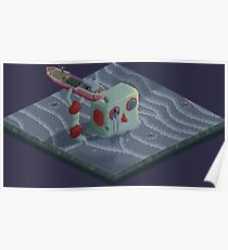 Attack of the Submarine Tin Robot Poster