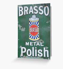 Brasso Metal Polish old signage Greeting Card