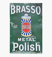 Brasso Metal Polish old signage Photographic Print