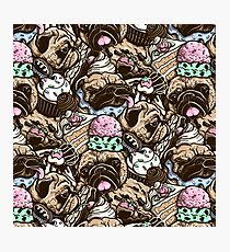 Dogs & Desserts Pattern Photographic Print