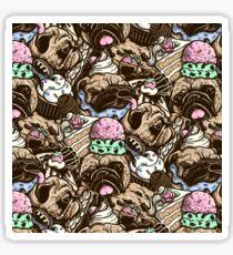 Dogs & Desserts Pattern Sticker