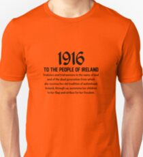 St. Patrick's Day Celebration Easter Rising Historical Irish Event 100th Anniversary 1916 Ireland Unisex T-Shirt