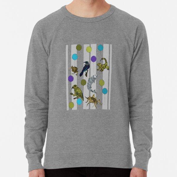 Kiwiautomata - grey stripe Lightweight Sweatshirt