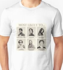 That 70s Show Most Likely To... Yearbook Quotes Unisex T-Shirt