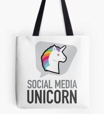 Social media unicorn Tote Bag