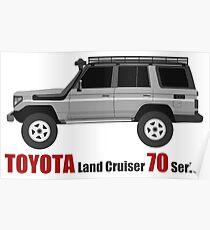 TOYOTA Land Cruiser 70 Series HZJ77 (side) (machito) Poster