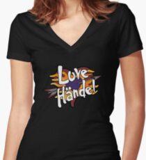 Love Handel - Band Women's Fitted V-Neck T-Shirt