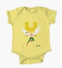 Hawkman - Superhero Minimalist Alphabet Clothing One Piece - Short Sleeve