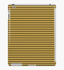 Spicy Mustard and Black Stripes iPad Case/Skin