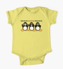 Three Wise Penguins Design Graphic One Piece - Short Sleeve