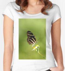 ZEBRA LONGWING BUTTERFLY Women's Fitted Scoop T-Shirt