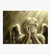 Peeping Angel Photographic Print
