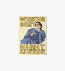 Liz Lemon - Night cheese Art Board