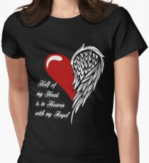 Half of my heart is in heaven with my angel T-shirt T-Shirt