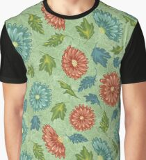 Simple Floral Pattern Graphic T-Shirt