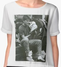Marty Mcfly Back to the future Chiffon Top
