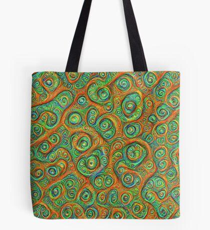 Green Red #DeepDream Tote Bag