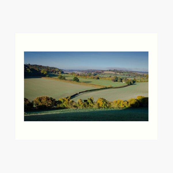 Across the Chilterns from Bledlow Ridge Art Print