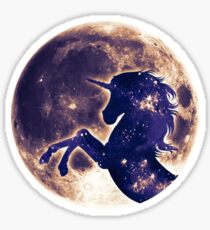 Unicorn, moon, fullmoon, fantasy, magic, horse, fantastic, beast Sticker