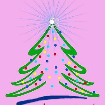 Festive, Graphic Christmas Tree, 2.0 by Art2Me