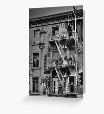 Chinese Laundry - B&W Greeting Card