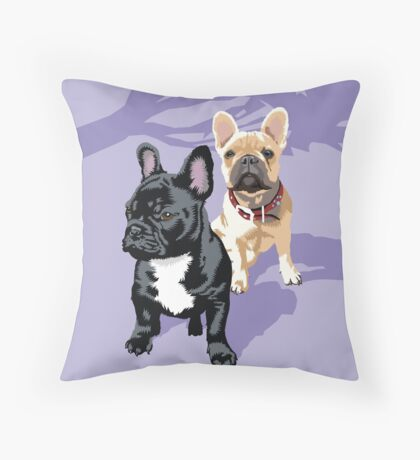 Diesel and Brie Throw Pillow