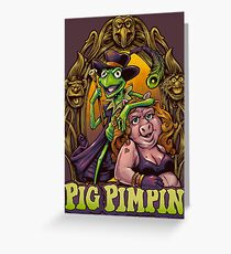 Pig Pimpin Muppets Parody T-Shirt Greeting Card