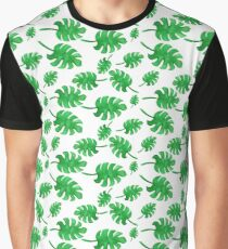 Seamless pattern of palm leaves painted with watercolors Graphic T-Shirt