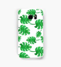 Seamless pattern of palm leaves painted with watercolors Samsung Galaxy Case/Skin