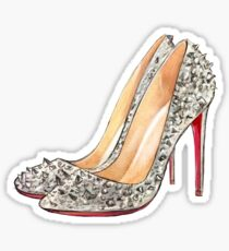 Pink High Heels Shoes | Fashion Sticker