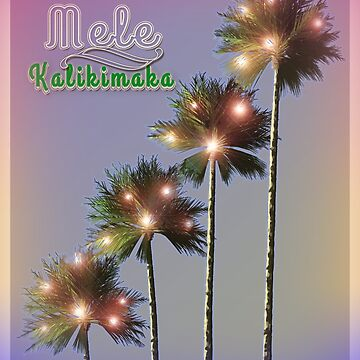 Palm Trees With Lights Mele Kalikimaka by Art2Me