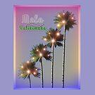 Palm Trees With Lights Mele Kalikimaka by Art2Me