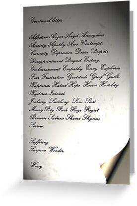 The Emotional Letter by patjila
