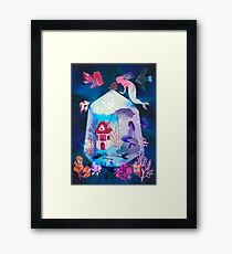 The house under the water Framed Print