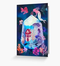 The house under the water Greeting Card