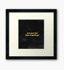 The Weeknd XO Framed Print