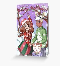 Bee and Puppycat Christmas Special Greeting Card