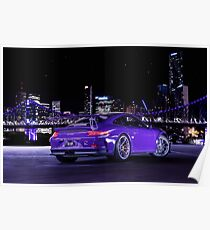 Porsche GT3RS - City Skyline Poster