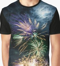 Fireworks in Bramble Bay Graphic T-Shirt