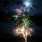 Fireworks in Bramble Bay by Silken Photography