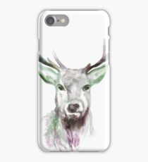 Beautiful winter reindeer painting, reindeer iPhone Case/Skin
