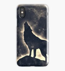 Wolf, moon, fantasy, wild, dog, wolves iPhone Case/Skin
