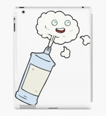 cartoon spraying whipped cream iPad Case/Skin