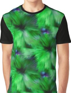 Brilliant Green Abstract Strokes Graphic T-Shirt